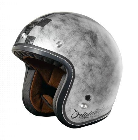 Moto přilba ORIGINE PRIMO SCACCO stříbrná S