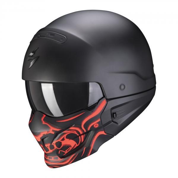 Moto přilba SCORPION EXO-COMBAT EVO SAMURAI matná černo/červená XS