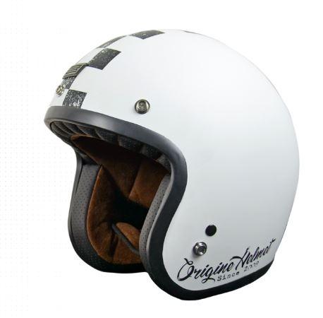 Moto přilba ORIGINE PRIMO SCACCO matná černo/bílá XS
