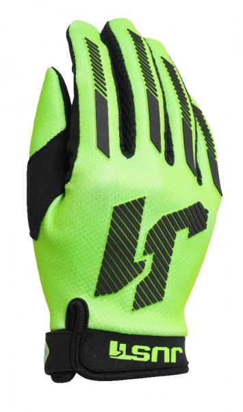 Dětské moto rukavice JUST1 J-FORCE X  neonově zelené S