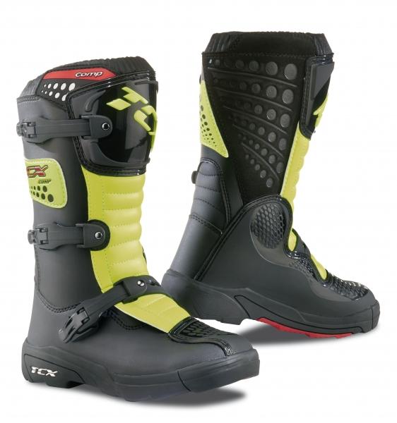 Dětské moto boty TCX COMP KID černo/žluté fluo 29