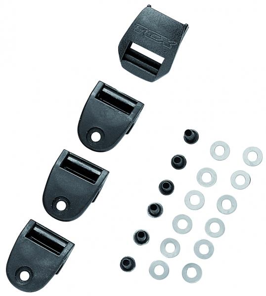 Zásuvka na pásek TCX plastový 2PATH sada 4ks UNI