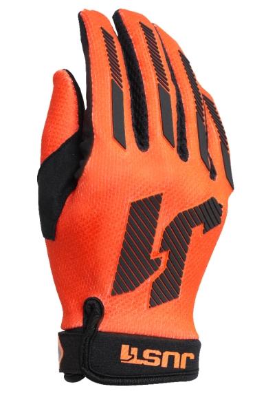 Dětské moto rukavice JUST1 J-FORCE X  neonově oranžové S