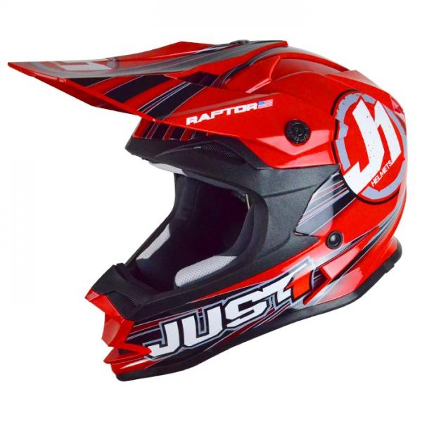 Dětská moto přilba JUST1 J32 RAPTOR červená S