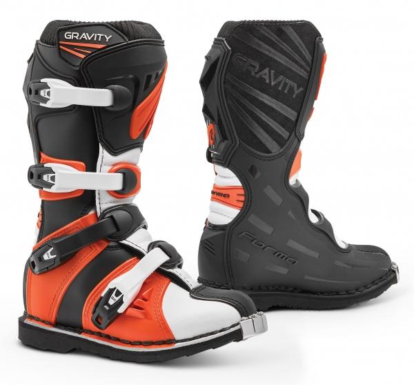 Dětské moto boty FORMA GRAVITY černo/oranžové 32