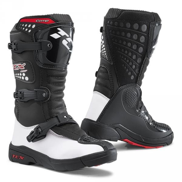 Dětské moto boty TCX COMP KID černo/bílé 29
