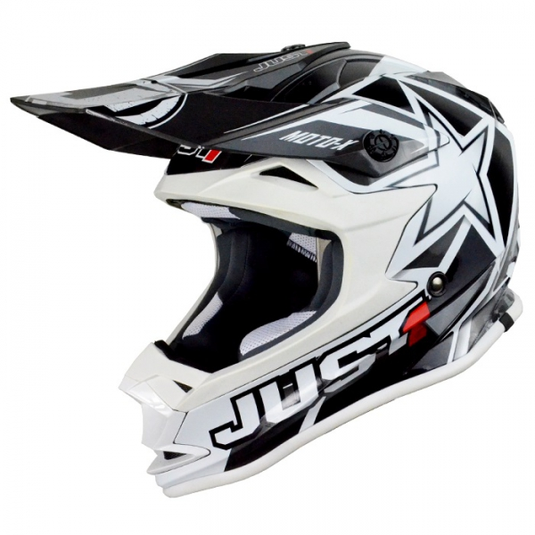 Dětská moto přilba JUST1 J32 MOTO X bílá S