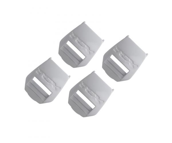 Zásuvka na pásek TCX plastový bílý 2PASS sada 4ks bílá